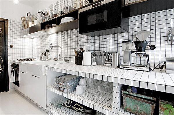 czarno-bialy-apartament-kuchnia