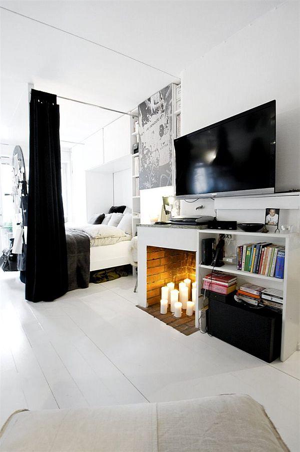 czarno-bialy-apartament-sypialnia