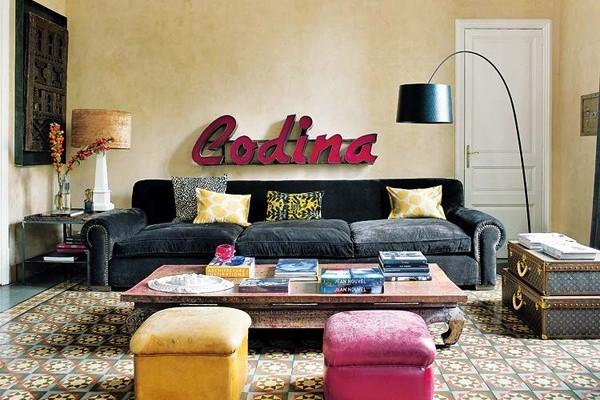 Inspirujące i kolorowe mieszkanie.