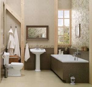 Łazienka z nutą wiktoriańską – dekory Colibri.