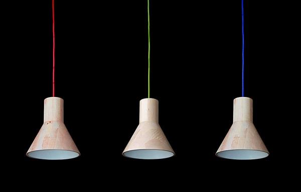 drewniana lampa antek 1