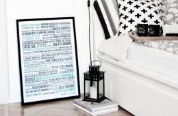 plakat z napisami, plakat motywacyjny
