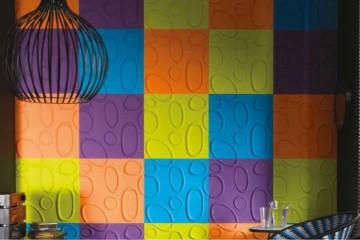 panele trójwymiarowe na ścianie,