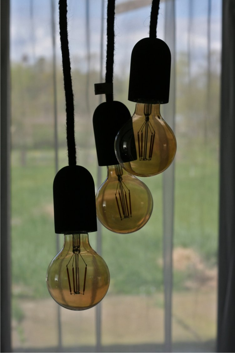 Lampa loft kabel wełniany czarny 3 x 2,5m - IMIN Design