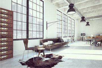 posadzka żywiczna, loft, lampy loftowe
