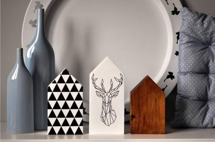 domki z drewna, dekoracje