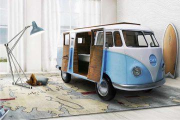 łóżko dla dziecka, łóżko furgonetka,