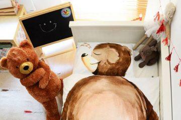 pościel z misiem, sypialnia dla dziecka