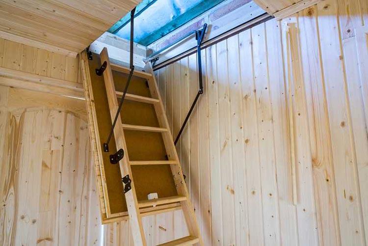 schody strychowe z klapą