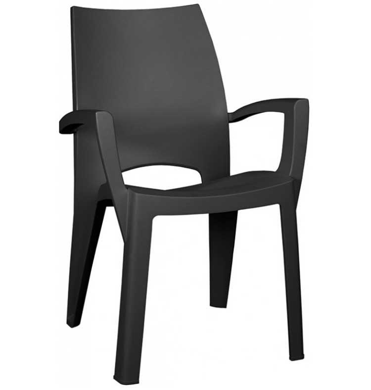 czarne krzeslo plastikowe