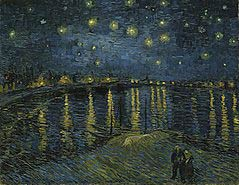 obraz gwiazdzista noc nad rodanem