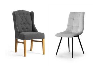 dwa ładne krzesła tapicerowane