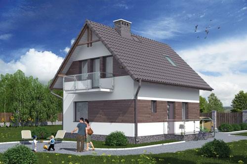 Mały domek na wąską działkę