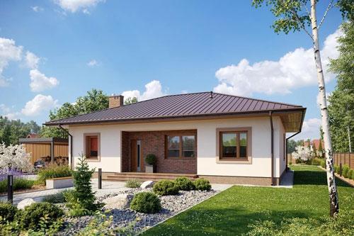 Mały dom z czterospadowym dachem