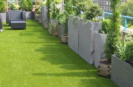 sztuczna trawa na dachu
