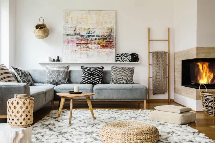 Obraz abstrakcja w salonie