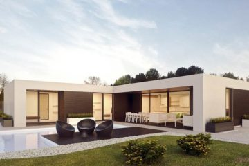 nowoczesny budynek jednorodzinny